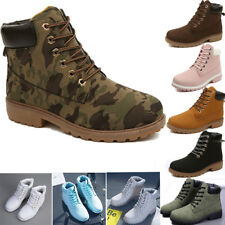 New Work Boots Women Winter Leather Boot Lace up Outdoor Waterproof Snow Boot