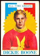 1960 61 TOPPS HOCKEY #17 DICKIE BOONE VG-EX OLD TIME GREATS Montreal wanderers