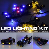 USB LED Light Lighting Kit Only For LEGO 76139 1989 Car Bricks Toy Set *