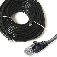RJ45 Cat 5e Network Cable UTP Ethernet Patch Lead LAN Router Black 1m - 50m lot