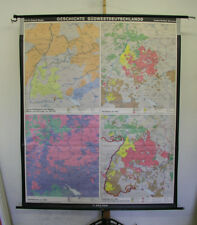 Murs Carte histoire sud-ouest de l'Allemagne Vintage Wall Map 169x201cm 1987