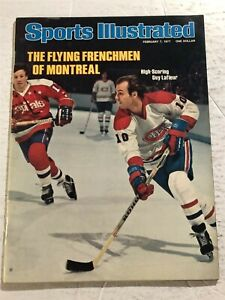1977 Sports Illustrated MONTREAL CANADIANS Guy LAFLEUR No Label FLYING FRENCHMAN
