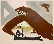 ANTONI TAPIES 20th c. SPANISH Original Signed Etching UNTITLED ABSTRACT 1982
