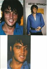 Elvis Presley Candid 3 Photo Set Backstage in Las Vegas 1970 in Blue Shirt