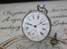 Schöne antike Schlüssel Taschenuhr massiv Silber pocket watch