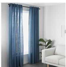 IKEA Aina Gardinenpaar In blau (145x300cm) Vorhang