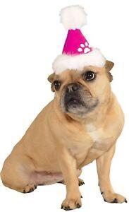 Rubies Costume Company Pink Santa Hat Pet Costume Christmas Hat, Medium/Large