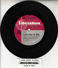 """JOAN JETT  I Love Rock 'N' Roll 7"""" 45 rpm vinyl record + juke box title strip"""