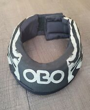 OBO Robo Neck Throat Protector - Field Hockey Goalie - Black and Silver