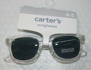 New Carter's Girls Sunglasses 4 year + 100% UVA-UVB Clear Glitter Classic Stylis