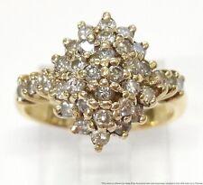 Ring 4.5gr Ladies Midcentury Cluster Cocktail New ListingVintage 0.75ctw Diamond 14k Gold