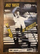 "RARE Jamie Reid Sid Vicious SEX PISTOLS ""MY WAY"" Virgin Promo Poster"