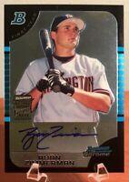 2005 Bowman Chrome Draft Ryan Zimmerman Rookie RC Auto Autograph #BDP178