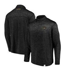 Men's LAFC Fanatics Branded Heathered Black 1/4 Zip Jacket