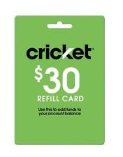 Cricket Wireless $30 Refill. Fast & Right