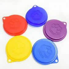 5 x New Pet Food Can Cover Lid Dog Cat Tin Plastic Reusable Storage Cap Kitchen