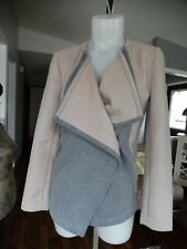 NWT LUCKY BRAND COLOR BLOCK Wool Blend coat XS