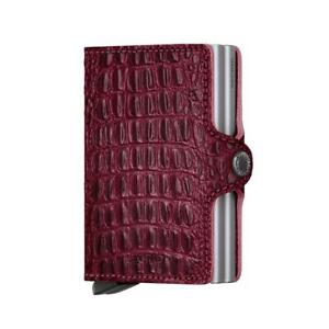 Genuine SECRID Twin Compact Wallet RFID Card Holder Nile Red