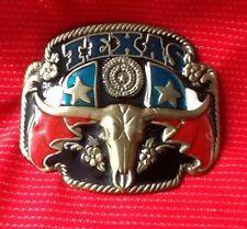 TEXAS LONE STAR STATE BULLS HEAD HORNS RODEO STEER LONGHORN MATADOR BELT BUCKLE