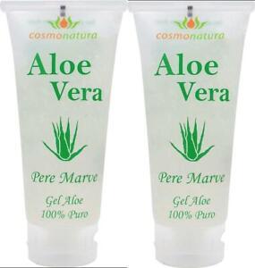 Aloe Vera Gel 100% Pur Bio Gesicht Haare Anti-Falten Feuchtigkeit Hautpflege 2x