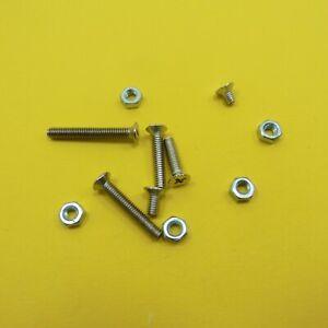 Phillips Flat Head M4 Screw + Nut Countersunk Nickel Plated Machine Bolt