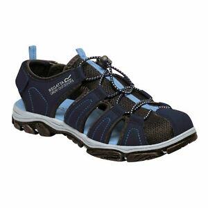 Regatta Women's Lady Westshore II Mesh-Vented Walking Sandals - Navy Blue Skies