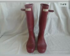 ladies hunter wellies size 6 (red)