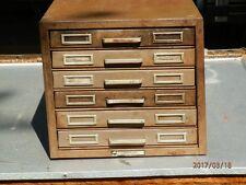 Steelmaster 6 drawer index card file cabinet industrial vintage metal machine