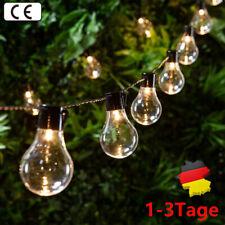 Solar Lichterkette Glühbirnen Außen Garten String Licht Birnen für Party Deko DE