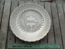 Vintage 1963 Calendar Plate Gold and White 10""