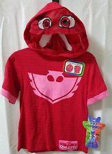 PJ MASKS Girls Tee Owlette Hoodie, Pink Short Sleeve - 2T