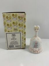 1996 Precious Moments Girl With Pearl June Bell Box 259918