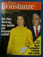 Die neue CONSTANZE 7.April 1969 Jackie Kennedy Ari Onassis Ehevertrag H-12543