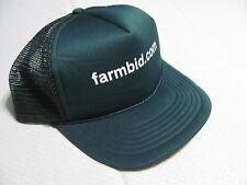 Farmbid.com Baseball Hat Mesh Trucker Farmer Cap Green Foam Front