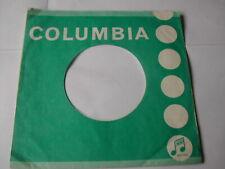 "COLUMBIA  7"" RECORD SLEEVE ORIGINAL RECORD SLEEVE 1960'S GREEN / EMITEX"