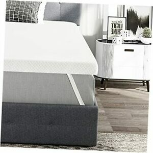 3 inch Gel-Infused Memory Foam Mattress Topper with Washable King 3-inch