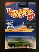 1997 Hot Wheels Heat Fleet Series #1 Police Cruiser