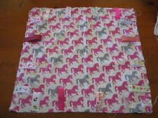 PERSONALISED BABY GIRLS TAG BLANKETS *HORSE PRINT*