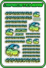 CAPRICORN RC STICKER A5 LAB 1/8 F1 1/10 TESLA ELECTRIC NITRO CAR HARD BLU YEL B