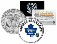 TORONTO MAPLE LEAFS NHL Hockey JFK Kennedy Half Dollar U.S. Coin * LICENSED *