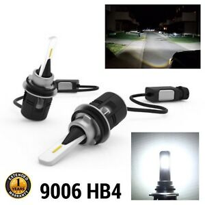 Low Beams R12 Canbus 9006 HB4 Headlights CSP LED Bulb 6000K Xenon White M1 MR