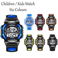 Children Kids Waterproof Sports Led Digital Watches Date Alarm Wrist Watch Gift