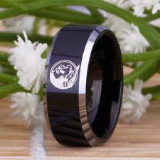 Florida State Seminoles Tungsten Band Black w/Silver edges ring sizes 12 & 12.5