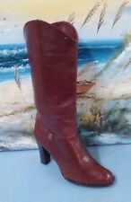 Anne Etienne Aigner Women's Wine   Boots Size 7.5 M