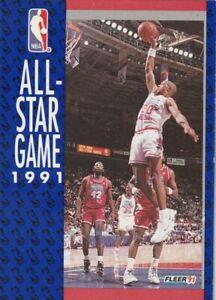 FREE SHIPPING-MINT-1991-92 Fleer #235 All-Star Game NBA Team Basketball Card
