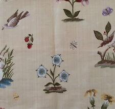 MARVIC Lampas Elizabeth cotton viscose floral birds Remnant New