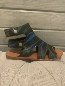 Camper Sandals Black With Color Graphic Print Size 36