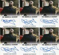 VL The Umbrella Academy S1 Autograph card Rainbow Sun Francks as Chuck Beamen