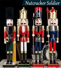 60CM Casse-Noisette Roi / Soldat Figurine en Bois Décoration de Noël Nouveau