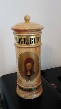 Altes Apothekergefäss aus Holz mit Siegel - Bock Blut - St.Elisabeth
